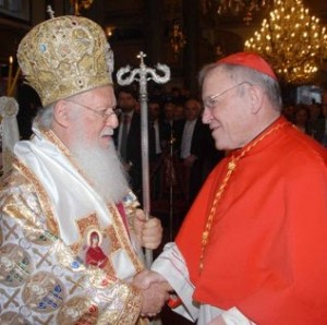 Patriarhul Bartolomeu şi Walter Kasper