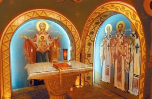 """Altarul Sfântului Fotie, Oraşul """"Sfântul Augustin"""", Florida, SUA"""