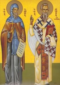 Sf. Timotei (stânga) şi Sf. Evstatie Ep. Antiohiei (dreapta)