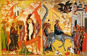 Vindecarea lui Lazăr şi Intrarea Domnului în Ierusalim
